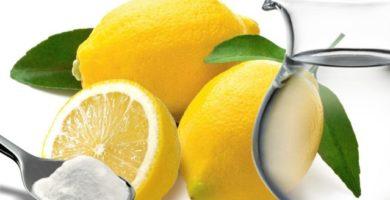 Bicarbonato de sodio y jugo de limón