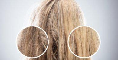 El cabello seco
